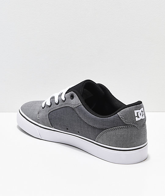 DC Anvil TX SE Grey Textile Skate Shoes