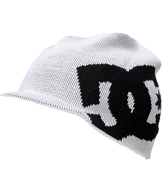 DC Big Star White Visor Beanie