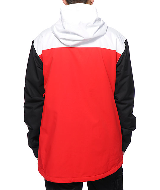 DC Billboard Red, White & Black Snowboard Jacket