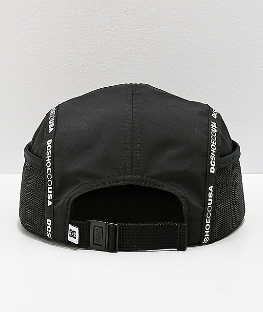 DC Blockage Logo Taped Black Five Panel Strapback Hat