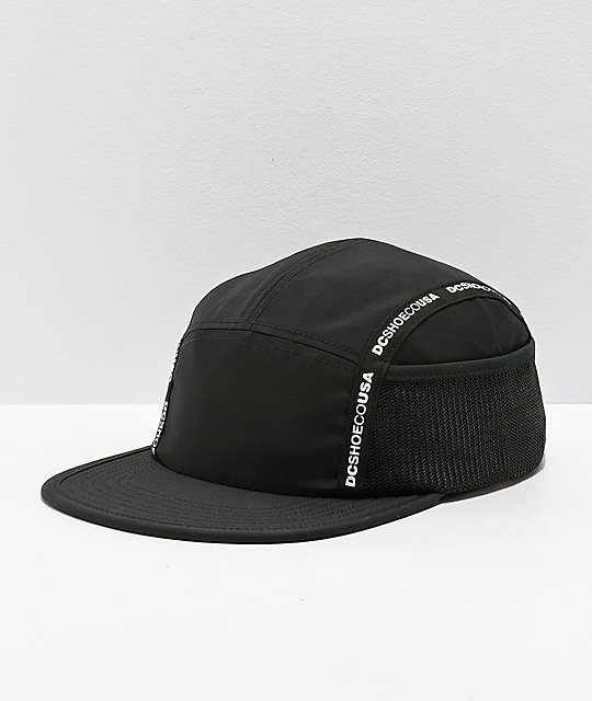 DC Blockage Logo Taped Black Five Panel Strapback Hat  79942d0581d