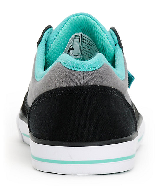 DC Boys Bristol Black & Marine Skate Shoes
