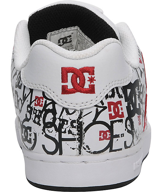 DC Boys Character White & Red Shoes
