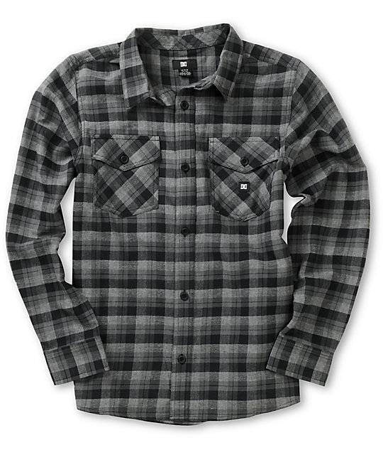 736d99243 DC Boys Chozen Black Plaid Flannel Shirt | Zumiez