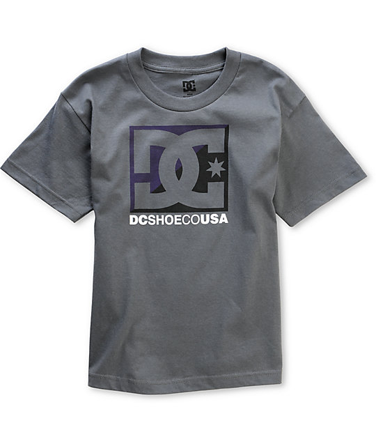 DC Boys Cross Star Charcoal T-Shirt