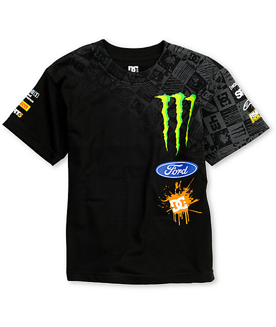 DC Boys Ken Block Check Slider Black T-Shirt