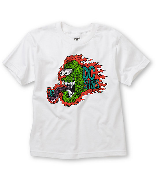 DC Boys Mad Monster White T-Shirt