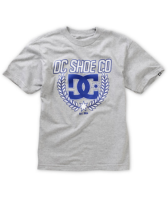 DC Boys Shield Heather Grey T-Shirt