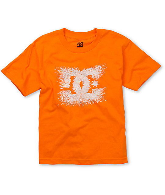 DC Boys Splosion Orange T-Shirt