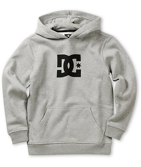 DC Boys Star Heather Grey Pullover Hoodie  47e1ad0ab0