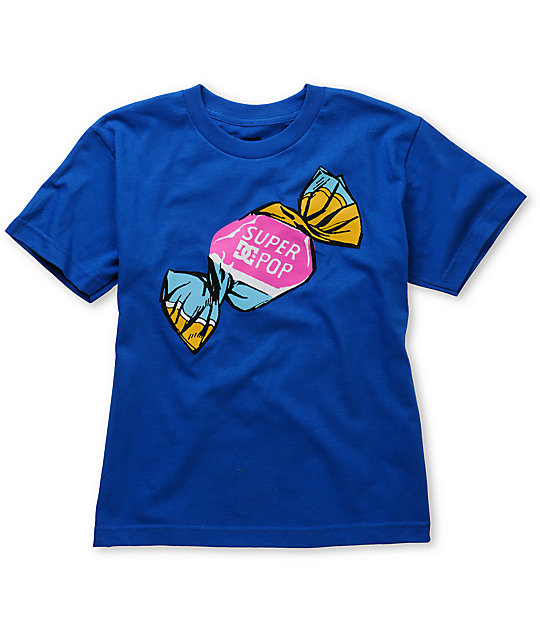 DC Boys Super Pop Blue T-Shirt