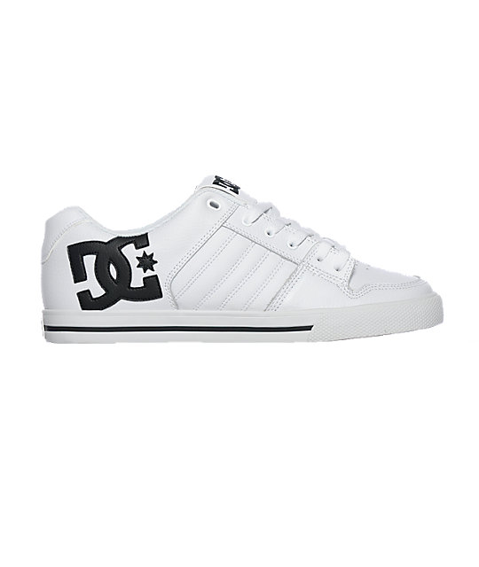 DC Chase Black & White Shoes