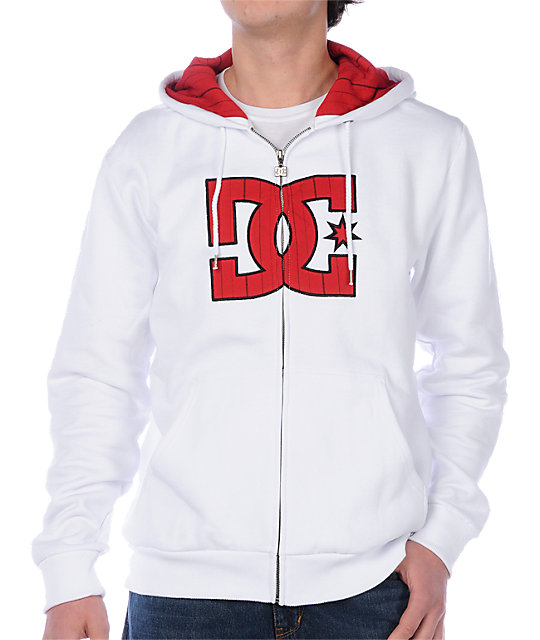 DC Checked White Hoodie