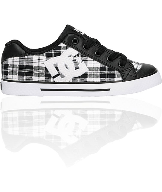 DC Chelsea Black, White & Silver Shoes