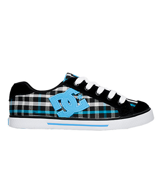 DC Chelsea Black & Turquoise Shoes