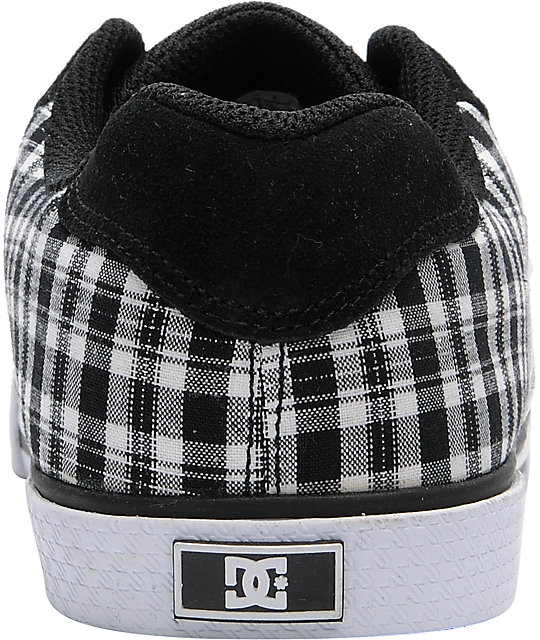 DC Chelsea Black & White Plaid Shoes
