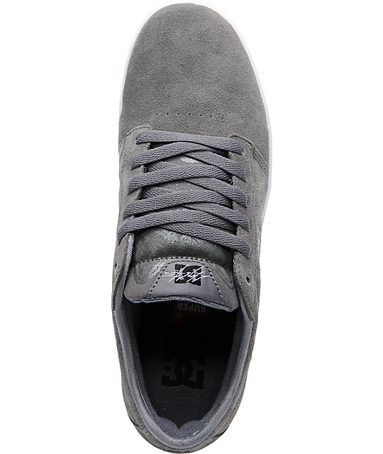 DC Chris Cole S Battleship & White Skate Shoes