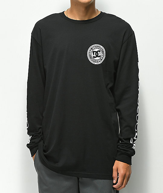 DC Circle Star Black Long Sleeve T-Shirt