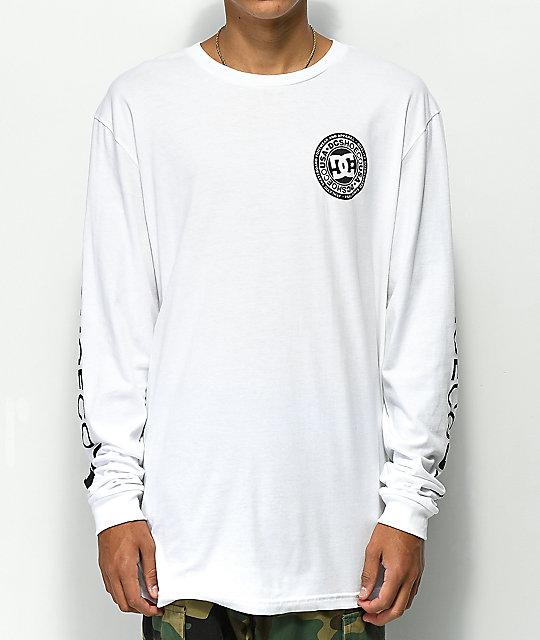 DC Circle Star camiseta blanca de manga larga ... d7288fa194884