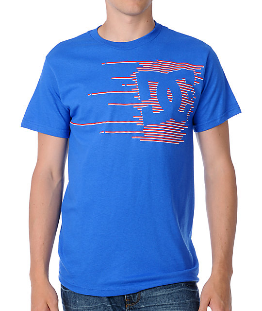 DC Collapse Mens Blue T-Shirt