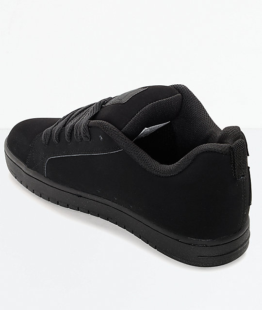 DC Court Graffik All Black Skate Shoes