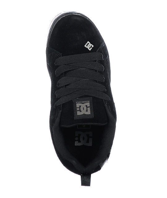 DC Court Graffik Black & Dark Grey Shoes