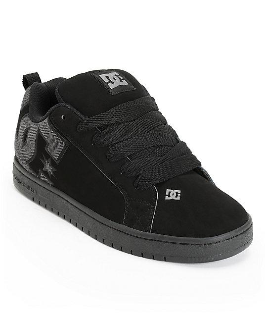 DC Court Graffik SE All Black Skate Shoes  5110e3458e