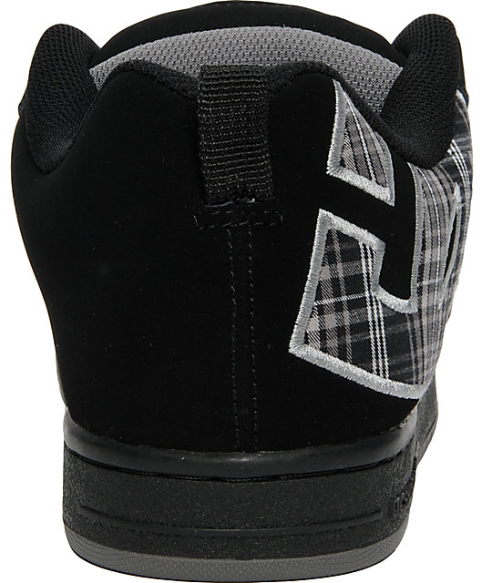 DC Court Graffik SE Black & Plaid Shoes