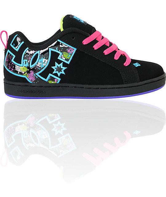 DC Shoes Court Graffik Se, Damen Sneaker: : Schuhe