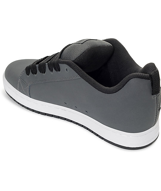 DC Court Graffik SE Grey & White Skate Shoes