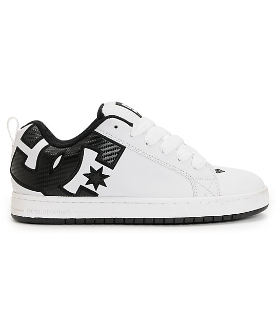 DC Court Graffik SE White & Carbon Fiber Skate Shoes