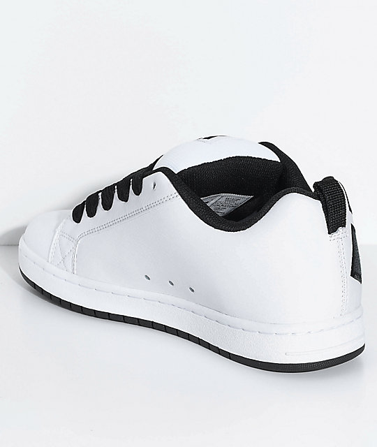 DC Court Graffik SE White & Charcoal Skate Shoes