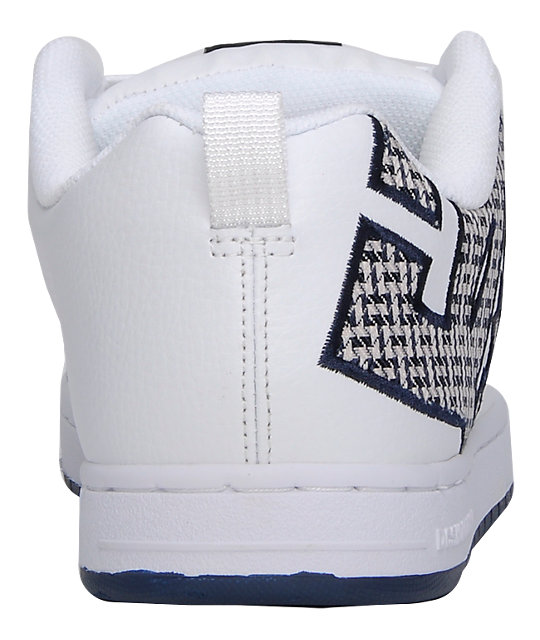 DC Court Graffik SE White & Navy Shoes