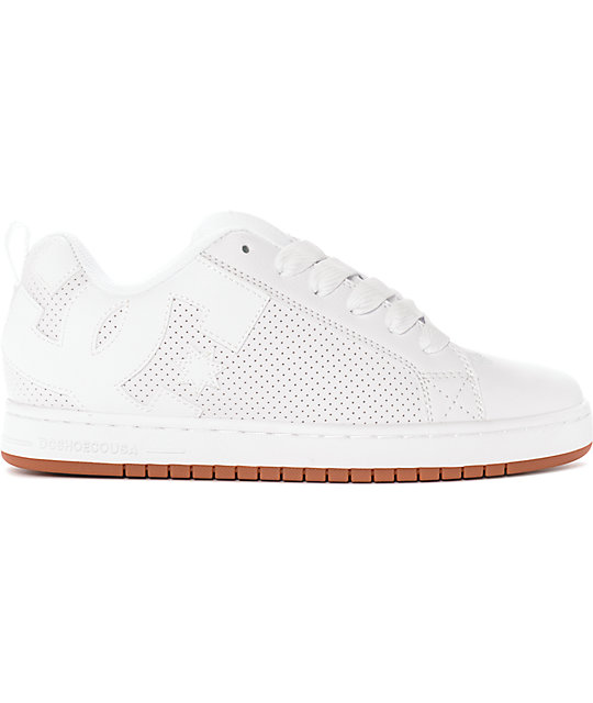 DC Court Graffik Chaussure - white white gum Dégagement Frais De Port Offerts yF50ZbWBk3