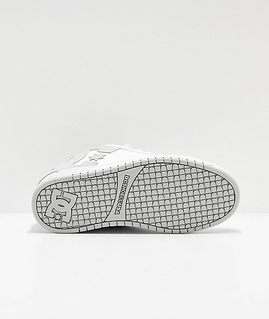 DC Court Graffik White & Grey Skate Shoes