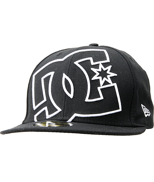 DC Coverage Black New Era 59Fifty Fitted Hat  44a64e29841d
