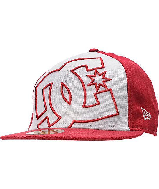 DC Coverage Red & Grey New Era Fitted Hat