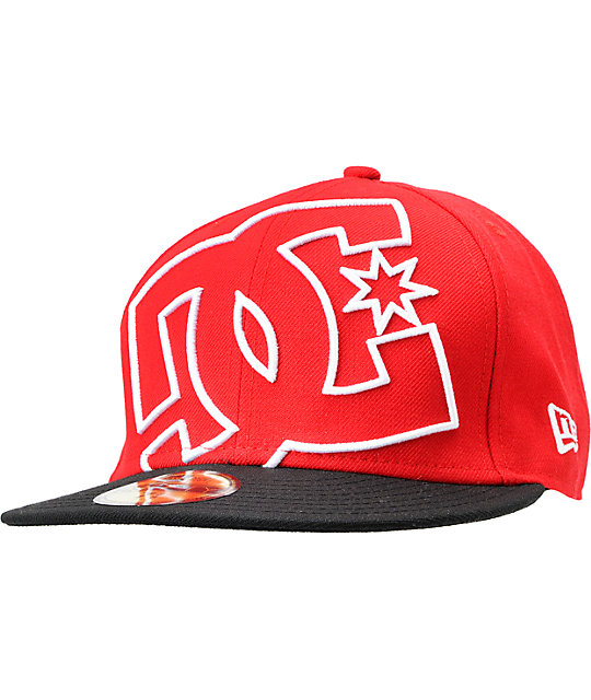 DC Coverage Red New Era 59Fifty Fitted Hat