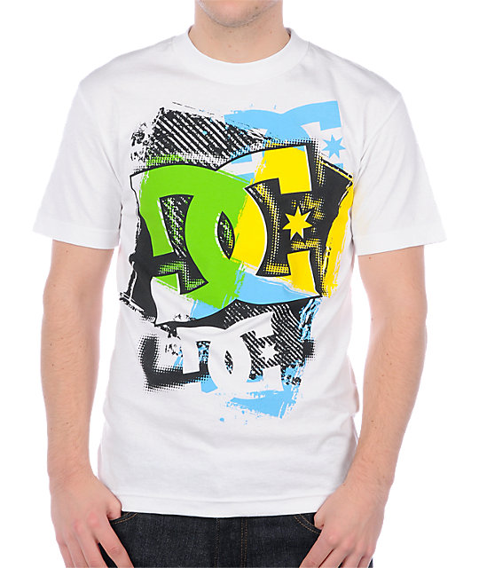DC Cut Out Stencil White T-Shirt