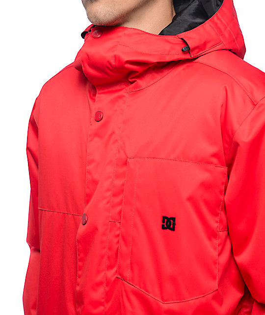 DC Defy Racing Red 10K Snowboard Jacket