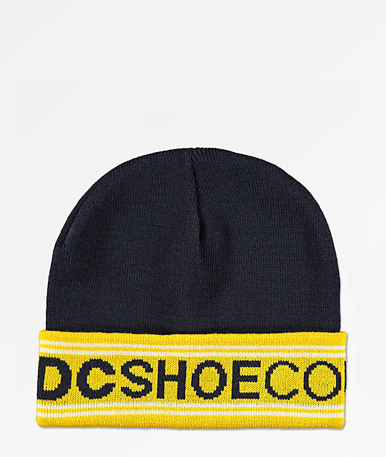 DC Doggel Navy & Yellow Beanie
