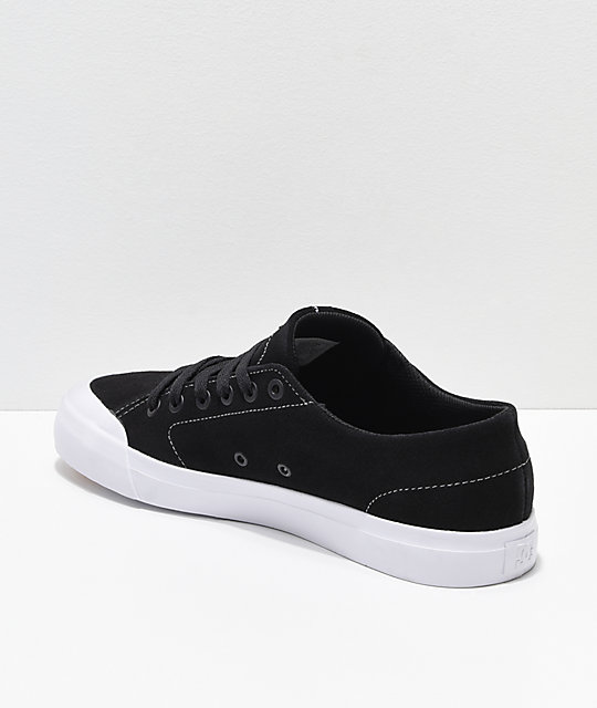 DC Evan Lo Zero S Black & White Skate Shoes