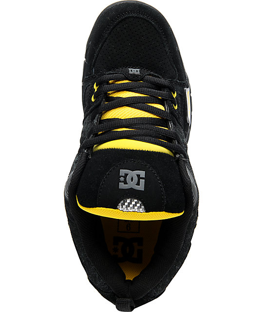 DC Frenzy TP Black & Yellow Skate Shoes