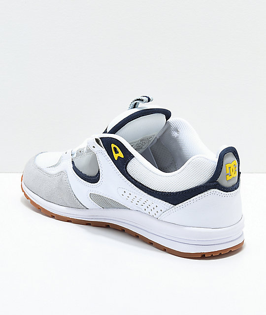 DC Kalis Lite White, Grey & Yellow Shoes