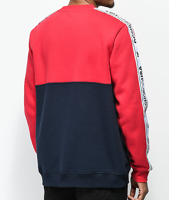 DC Kealey Red & Blue Crew Neck Sweatshirt