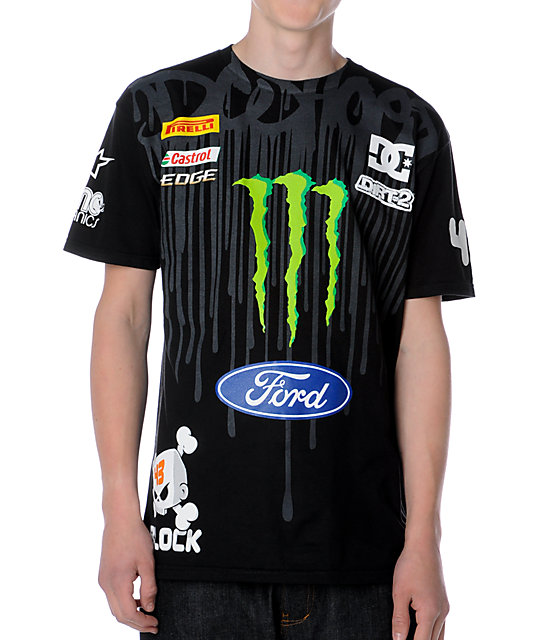DC Ken Block Drip Black T-Shirt