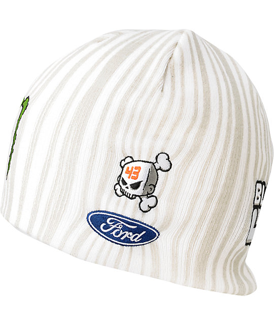 DC Ken Block Ford White Beanie
