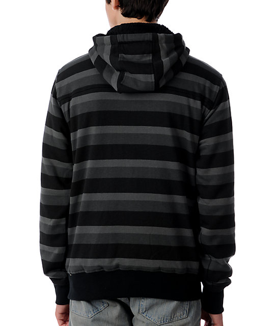 DC Kupress Black Stripe Tech Fleece Jacket