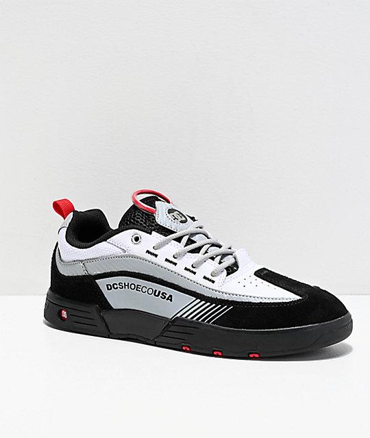 9b268df0e2fca DC Legacy 98 Slim Black, White & Red Skate Shoes