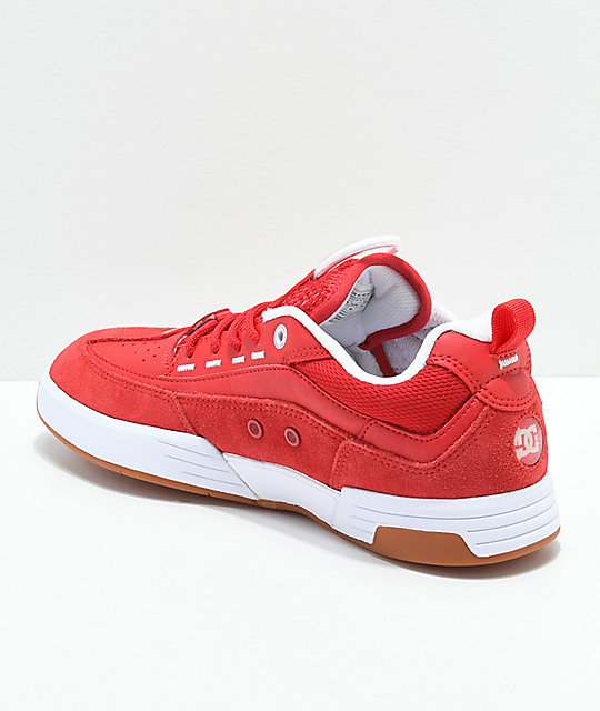 DC Legacy 98 Slim Red & White Shoes